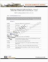 Tài liệu EVERYDAY ENGLISH FROM AUSTRALIA – Series 2. 1 ppt
