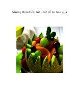 Tài liệu Những thời điểm tốt nhất để ăn hoa quả pdf