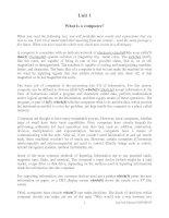 Tài liệu Unit 1- What is a computer? pptx