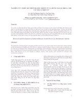 Tài liệu NGHIÊN CỨU THIẾT KẾ THIẾT BỊ ĐIỀU KHIỂN TỪ XA HỒNG NGOẠI (IRDA) CHO CÁC HỆ CƠ ĐIỆN TỬ doc