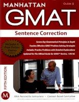 Manhattan GMAT sentence correction