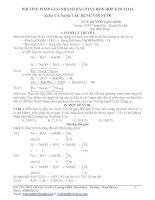 Tài liệu Phương pháp giải các dạng toán về hỗn hợp kim loại Al/Zn và Na/Ba tác dụng với nước doc
