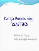 Tài liệu Các lọai Projects trong VS.NET 2005 pptx