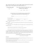 Tài liệu ẪU ĐƠN ĐỀ NGHỊ CẤP GIẤY PHÉP KINH DOANH BÁN BUÔN (HOẶC ĐẠI LÝ BÁN BUÔN) SẢN PHẨM THUỐC LÁ doc