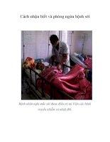 Tài liệu Cách nhận biết và phòng ngừa bệnh sởi doc