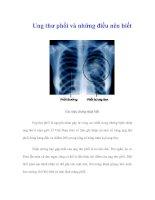 Tài liệu Ung thư phổi và những điều nên biết pptx