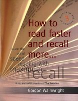 Tài liệu How to Read Faster and Recall More doc