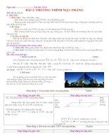 Gián án Bài 2: Phương trình mặt phẳng (Tiết 31 - 32)