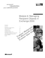 Tài liệu Module 6: Managing Recipient Objects in Exchange 2000 ppt