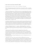 Bài giảng CUỘC GIAO CA LỤC ĐỤC GIỮA HỔ VÀ MÈO