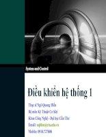 Tài liệu Điều khiển hệ thống 1 - Chapter 4 pdf