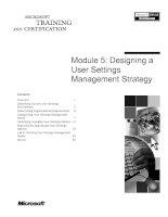 Tài liệu Module 5: Designing a User Settings Management Strategy pdf