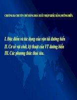 Tài liệu Chương 2: Chuyên chở hàng hóa ngoại thương bằng đường biển pptx