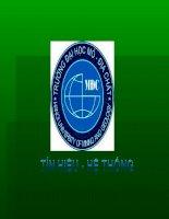 Tài liệu Bài thuyết trình: Khái niệm Tín Hiệu và Hệ Thống doc