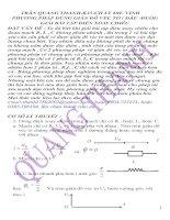 Tài liệu Phương pháp dùng giãn đồ véc tơ và giải bài tập điện xoay chiều doc