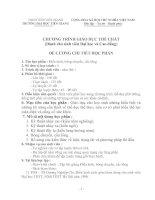 Tài liệu CHƯƠNG TRÌNH GIÁO DỤC THỂ CHẤT (Dành cho sinh viên Đại học và Cao đẳng) - Trường Đại học Tiền Giang pptx