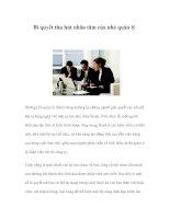 Tài liệu Bí quyết thu hút nhân tâm của nhà quản lý Những nhà quản lý thành công docx