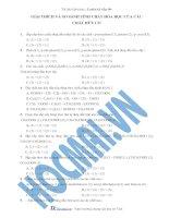 Tài liệu (Luyện thi cấp tốc Hóa) Trắc nghiệm và đáp án Giải thích và so sánh tính chất của một số HCHC docx