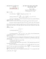 Đề thi tuyển sinh môn toán vao lớp 10 HA NOI NAM 2012 2013