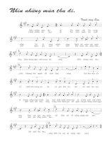 Tài liệu Bài hát nhìn những mùa thu đi - Trịnh Công Sơn (lời bài hát có nốt) ppt