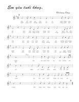 Tài liệu Bài hát em yêu tuổi hồng - Đỗ Hoàng Dũng (lời bài hát có nốt) pptx