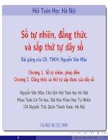 Tài liệu Bài giảng Số tự nhiên, đẳng thức và sắp xếp thứ tự dãy số doc