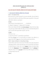 Tài liệu MỘT SỐ HƯỚNG DẪN ÔN THI ĐẠI HỌC (PHẦN 2) ppt