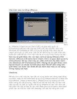 Tài liệu Cấu hình máy ảo bằng VMware docx