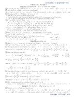 Bài soạn bài tập số phức bổ sung
