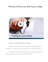 Tài liệu Phòng chống ung thư họng miệng docx