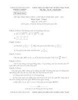 Bài giảng Đề + đáp án biểu điểm kì thi HSG huyên Mai Sơn 2011