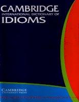 Tài liệu CAMBRIGDE INTERNATIONAL DICTIONARY OF IDIOMS_ CHƯƠNG 1 pptx