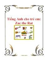 Tài liệu Tiếng Anh cho trẻ em: Zac the Rat pdf