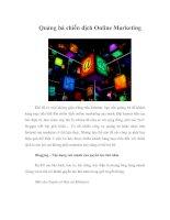 Tài liệu Quảng bá chiến dịch Online Marketing pptx