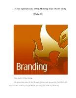 Tài liệu Kinh nghiệm xây dựng thương hiệu thành công (Phần II) pptx