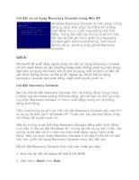 Tài liệu Cài đặt và sử dụng Recovery Console trong Win XP doc