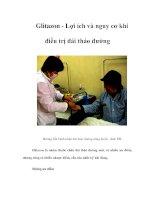 Tài liệu Glitazon - Lợi ích và nguy cơ khi điều trị đái tháo đường doc