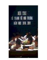 Bài giảng hình ảnh vẽ đề tài môi trường của trường Mỹ Sơn A, Ninh Thuận A