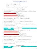Tài liệu Đề luyện tập giải tích (2) pdf