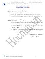 Tài liệu Các bài toán khảo sát hàm số 25.05 (Bài tập và hướng dẫn giải) pdf