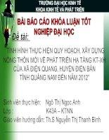 Slide TÌNH HÌNH THỰC HIỆN QUY HOẠCH, xây DỰNG NÔNG THÔN mới về PHÁT TRIỂN hạ TẦNG KT XH của xã điện QUANG, HUYỆN điện bàn TỈNH QUẢNG NAM đến năm 2012