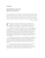 CHAPTER 9: Production Costs and Business Decisions