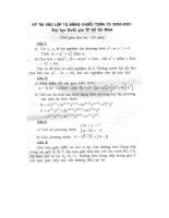 Tài liệu Bộ đề thi năng khiếu khối 10 môn toán docx