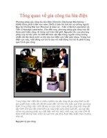 Tài liệu Tổng quan về gia công tia lửa điện pdf