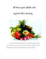 Tài liệu 10 hoa quả dành cho người tiểu đường pdf