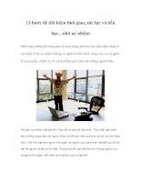 Tài liệu 13 bước để tiết kiệm thời gian, sức lực và tiền bạc…nhờ uỷ nhiệm docx