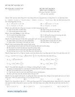 Tài liệu Bộ 10 đề thi thử đáp án vật lý 2010 có đáp án doc
