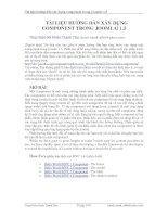 Tài liệu Hướng dẫn xây dựng Component trong Joomla 1.5 pdf