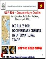 UCP 600 - Incoterms 2010 Tài liệu tóm lược về incoterms 2010. Tiện cho việc ôn thi.