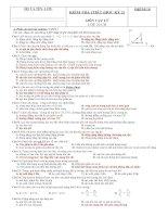 Tài liệu Đề kiểm tra 1 tiết (Học kỳ 2) môn Vật lý lớp 10 chuyên ban doc